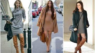getlinkyoutube.com-OUTFITS: Combinaciones de Moda con Faldas, Vestidos, Botas y Botines