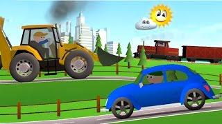 getlinkyoutube.com-Мультфильмы про машинки. Машинки и разные погоды. Транспорт для детей.