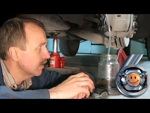 Как самому прокачать тормоза. Замена тормозной жидкости, прокачка тормозов. 'Гараж №6