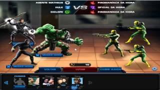 getlinkyoutube.com-Como conseguir 5 estrelas em missões (Pontos de comando+golds) Marvel Avengers Alliance