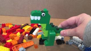 Lego tutorial fun kids video, dinosaur, rocket, pirate ship, jet, shark, robot