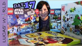 getlinkyoutube.com-LEGO advent calendar 2015 STAR WARS MINIONS & M&M's Opening & Toy Review by Lucas World DAY 17