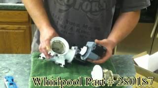 getlinkyoutube.com-Whirlpool washing machine drain pump replacement and diagnostic