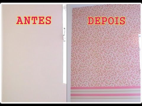 Decorando Parede com Con-Tact / Applying Con-Tact paper on a wall
