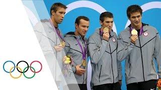 getlinkyoutube.com-Michael Phelps' Final London 2012 Race - Men's 4 x 100m Medley | London 2012 Olympic Games