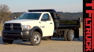 getlinkyoutube.com-2016 Ram 5500 Dump Truck Dirt Hauling & Dumping Review