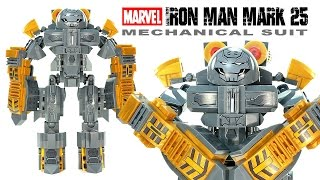 "getlinkyoutube.com-Iron Man Mark 25 ""Striker"" Mechanical Suit Unofficial LEGO Set Speed Build w/ Tony Stark"
