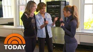 Jennifer Lopez Teach Savannah And Hoda Her Best Dance Moves   TODAY