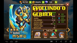 getlinkyoutube.com-Magic Rush Heroes Evoluindo o Gerber tankudo, Vale apena ?