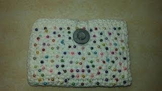 getlinkyoutube.com-CROCHET How to #Crochet Fun wallet clutch with beads TUTORIAL #68