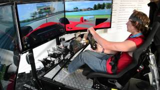 getlinkyoutube.com-Travis Pastrana Drives the Motion Pro II Racing Simulator at the DRIVE4COPD event.