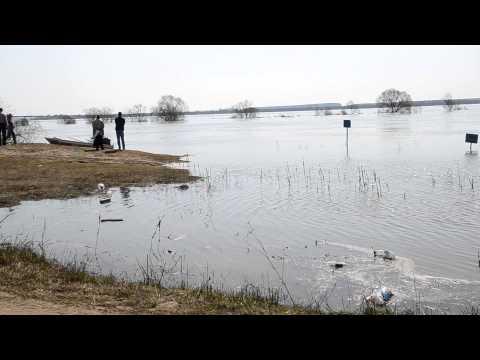 Наводнение в козельске. Угра 19.04.2013