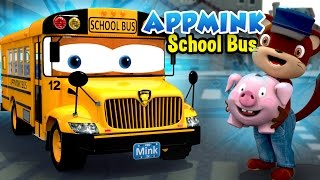 getlinkyoutube.com-Wheels On The Bus Go Round And Round, Little Pig Goes To Town - Bus Cartoon for Kids