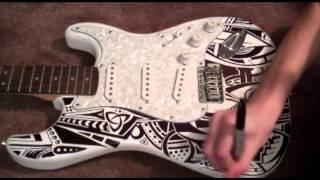 getlinkyoutube.com-Sharpie Guitar Time Lapse