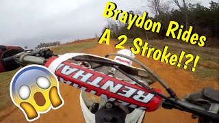getlinkyoutube.com-Braydon Rides A Two Stroke?!?! EP-30