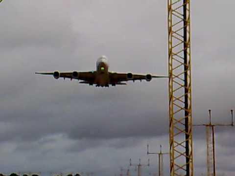 A380 Edinburgh Airport Scotland Landing Trials
