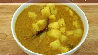 Potato with Coconut Gravy..