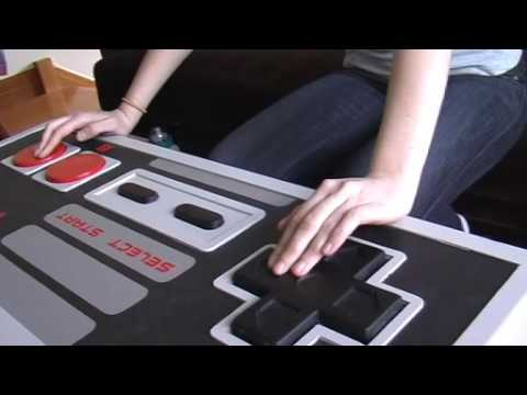 Giant NES controller coffee table