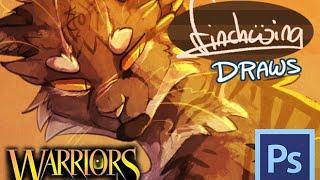 getlinkyoutube.com-Finchwing Draws: Tigerclaw and Ravenpaw - Warriors speedpaint