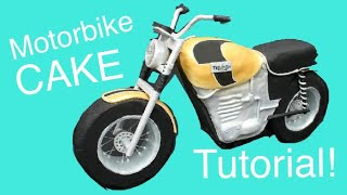getlinkyoutube.com-How to make a Motorbike CAKE!