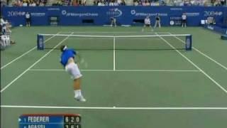 getlinkyoutube.com-Federer vs Agassi US OPEN 2004