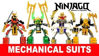 getlinkyoutube.com-LEGO Ninjago Mech Suits KnockOff Building Set 1 w/ Lloyd Samurai X Skylor & Zugu