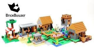 getlinkyoutube.com-Lego Minecraft 21128 The Village - Lego Speed Build