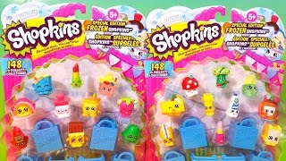 getlinkyoutube.com-2 SHOPKINS packs Season 1 Special edition Frozen shopkins 2 surprise blind bags each pack
