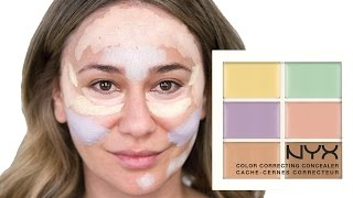 getlinkyoutube.com-HOW TO USE THE NYX COLOR CORRECTING PALETTE - GET A FLAWLESS LOOK