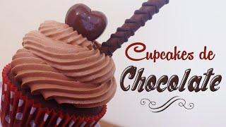 getlinkyoutube.com-Como hacer cupcakes de chocolate | Receta fácil | Cupcakes decorados con bombones