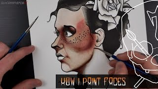 getlinkyoutube.com-How To Paint Faces Skin Tones Watercolour lnks Tattoo Flash Design Illustration Tutorial
