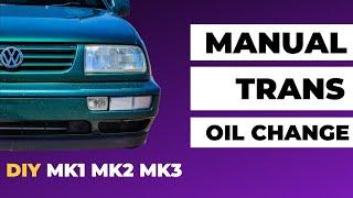 getlinkyoutube.com-Volkswagen Jetta / Golf / Beetle TDI Manual Transmission Oil Change MK1 MK2 MK3 MK4