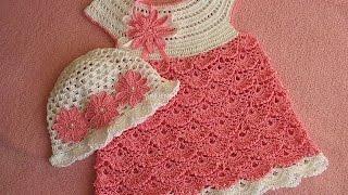 """getlinkyoutube.com-""""Детское платье. Вяжем кокетку"""" (Baby dress. Knit Flirty)"""