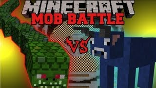 getlinkyoutube.com-Naga Vs. Bull - Minecraft Mob Battles - Arena Battle - Twilight Forest and Better Dungeons Mods
