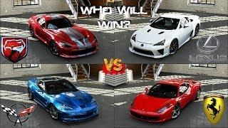 getlinkyoutube.com-Forza 5 - 458 Italia vs Viper GTS vs Corvette ZR1  vs LFA at Road Atlanta