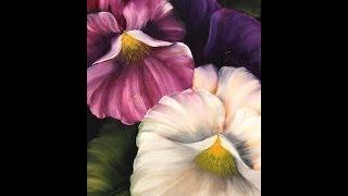 getlinkyoutube.com-Como pintar flores - Pinceladas de  Silvia Mongelos