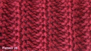Rib Stitch - Free Knitting Patterns - Watch Knitting - Stitch 25