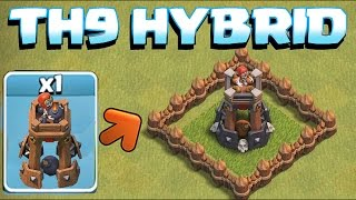 getlinkyoutube.com-BOMB TOWER TROPHY BASE / HYBRID TH9 BUILD!! (Clash of Clans New Update!!!)