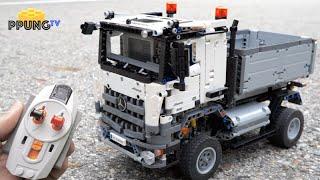 getlinkyoutube.com-LEGO Technic 42043 RC - 4x2 dump Mercedes-Benz Arocs 3245 by 뿡대디