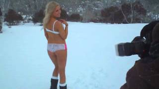 Miss Snow Bunny Lingerie Photo Shoot in the Snow