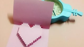 getlinkyoutube.com-Làm thiệp 3D trái tim handmade đơn giản - NGOC VANG