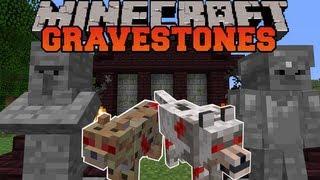 getlinkyoutube.com-Minecraft : GRAVESTONES (WITHER DUNGEON, GRAVEYARDS, NEW VILLAGER) Mod Showcase