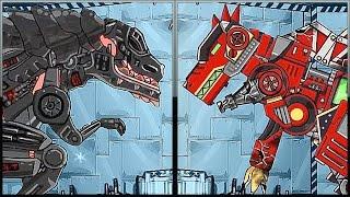 getlinkyoutube.com-Repair Dino Robot - Terminator T-REX + Spinosaurus - Full Game Play - 1080 HD
