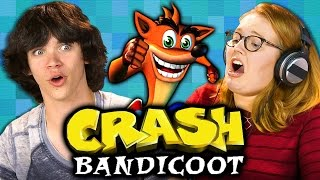 CRASH BANDICOOT (Original PlayStation) (Teens React: Retro Gaming)