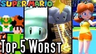 Super Mario TOP 5 WORST POWERUPS (Wii U, GB, NES)