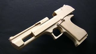getlinkyoutube.com-Shell Ejection Rubber Band Gun -  Desert Eagle Type