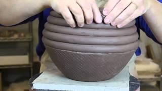 getlinkyoutube.com-Bridges Pottery - Ceramic Slab and Coil Vessel Demonstration