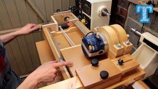 getlinkyoutube.com-Homemade Router Spiral Cutting Jig: How It's Built