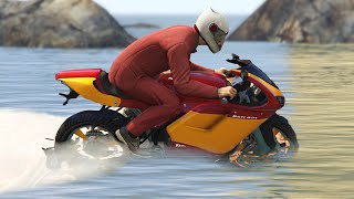 getlinkyoutube.com-BIKE RACING ON WATER!? (GTA 5 Funny Moments)