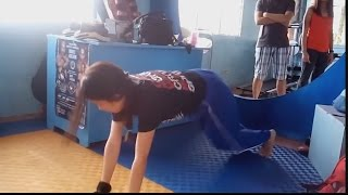 getlinkyoutube.com-Jobelle Bascug Practise Mixed Martial Arts
